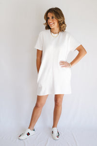 Washed Ribbed Tennis Dress