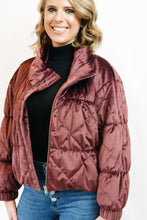 Load image into Gallery viewer, Cosmic Quilted Jacket Plum