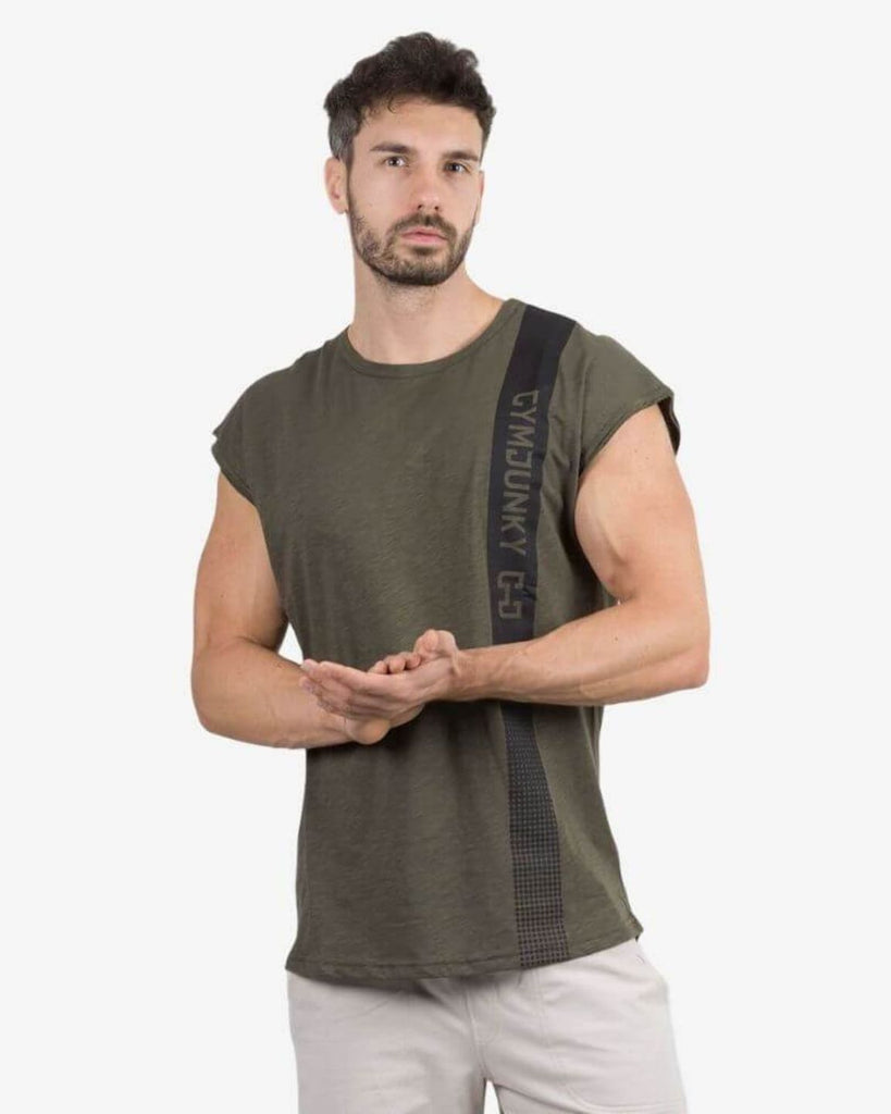 Gymjunky Edge Sleeveless Shirt Dark Green