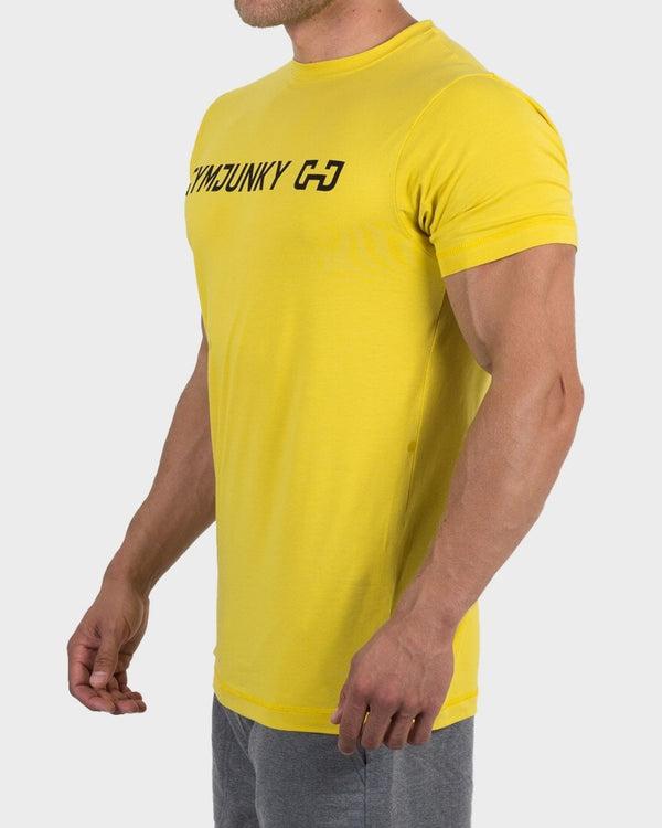 Gymjunky Original Shirt Spicey Yellow
