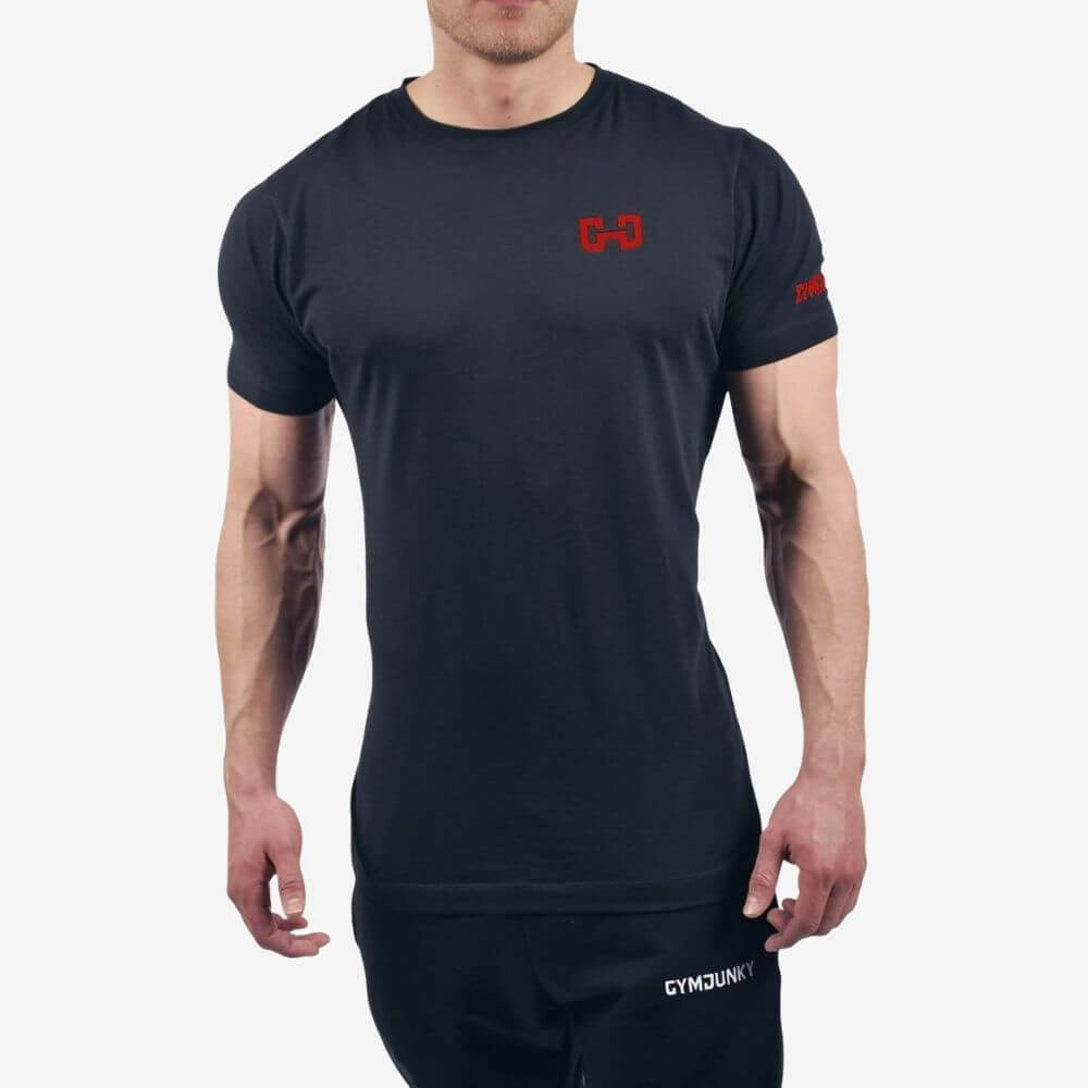 Gymjunky Dynamic T-Shirt Black/Red