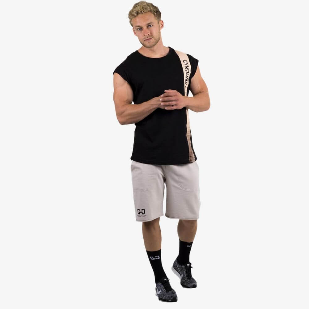 Gymjunky Edge Sleeveless Shirt Black