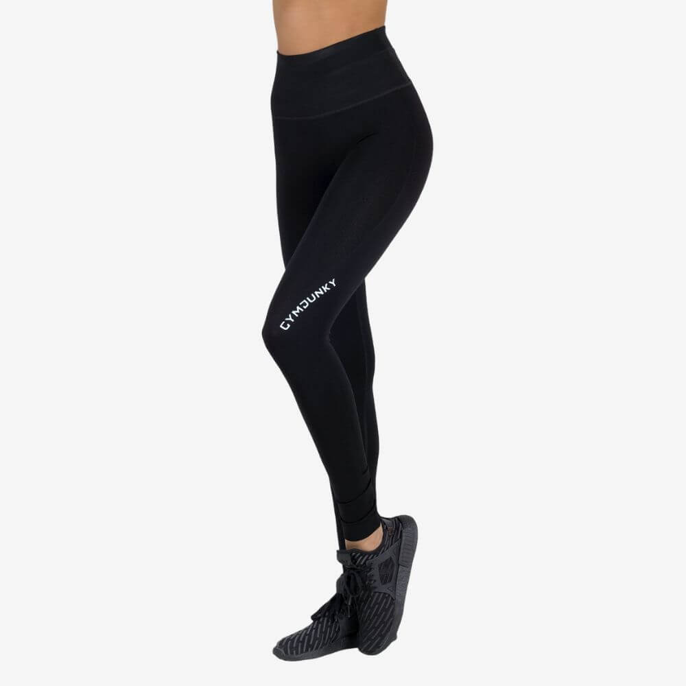 Gymjunky Women Seamless High Waist Tights Black