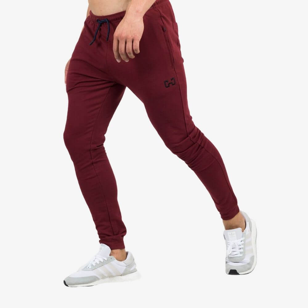 Gymjunky Iconic Gym Pants Deep Red
