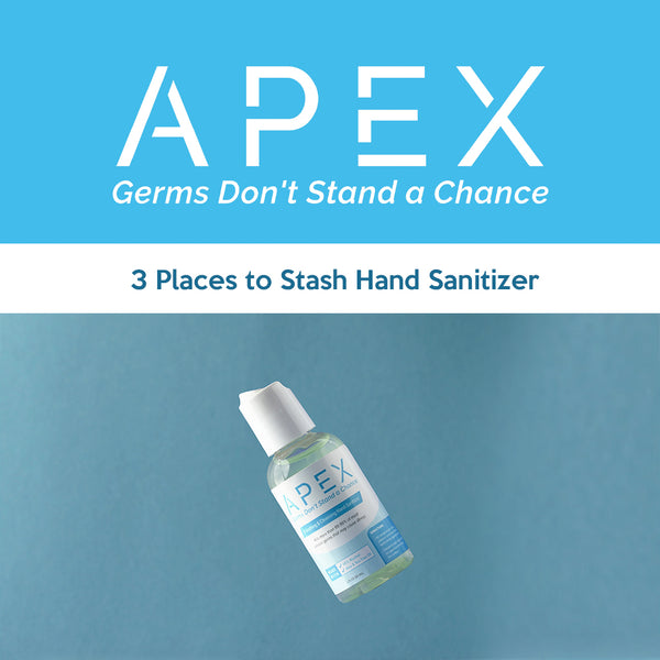 3 Places to Stash Hand Sanitizer
