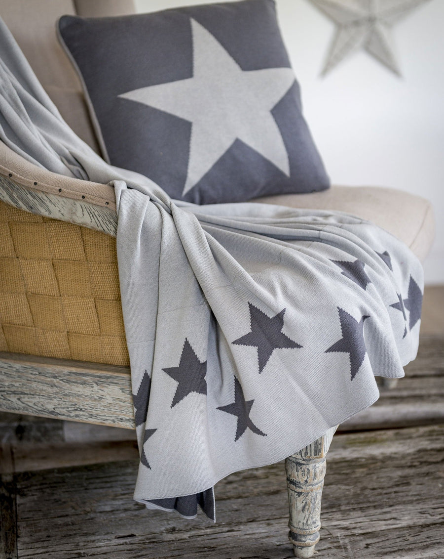 Grey Star Throw