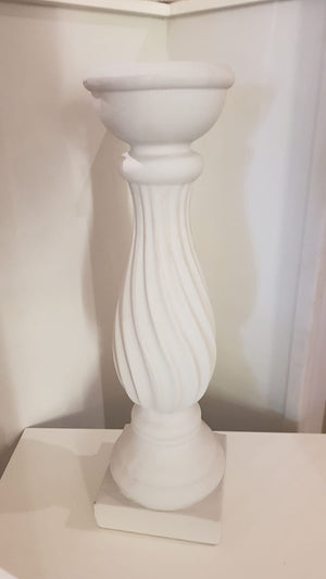 White Stone Effect Candlestick