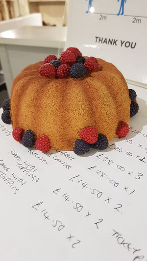 Decorative Cake With Berries