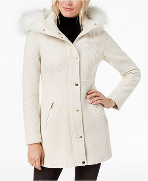 Cream Furry Coat