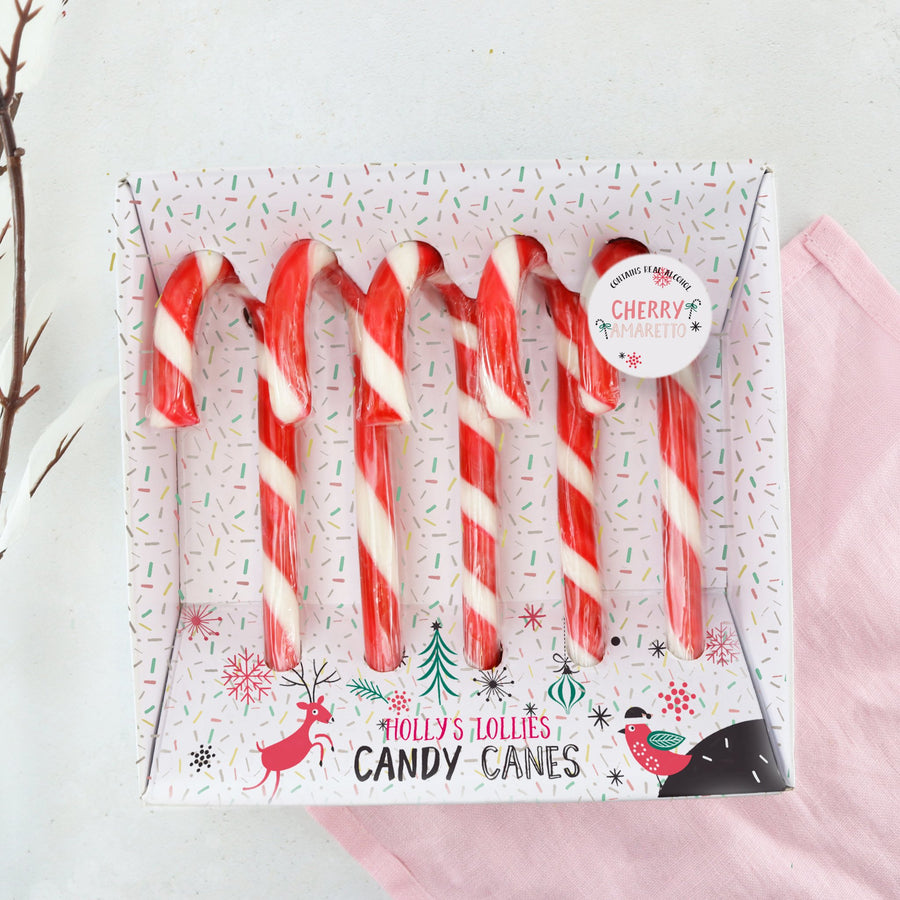 Cherry Amaretto Candy Canes