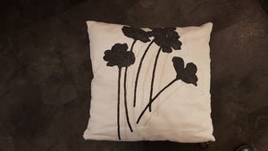 Black Flower Cushion