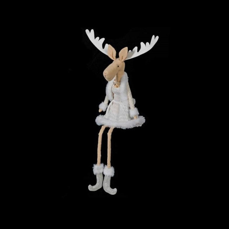 Lady Deer in White Dress