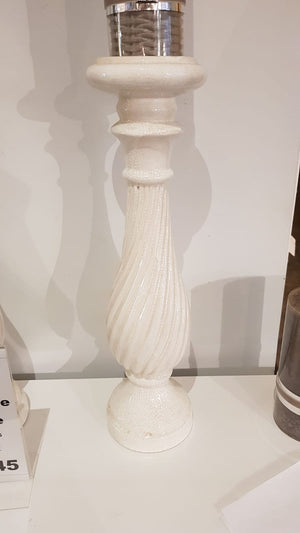 Crackle Glaze Candlestick