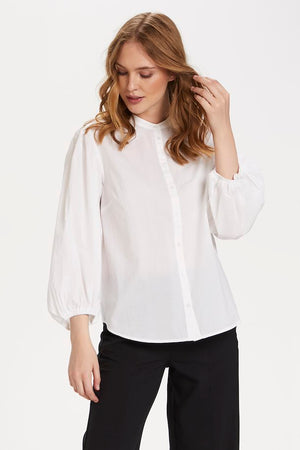 Long-sleeved White Shirt