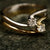 Twist Zircon Gold Ring