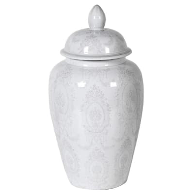 Olivia Grey & White Large Ginger Jar