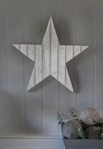White Rustic Wooden Star