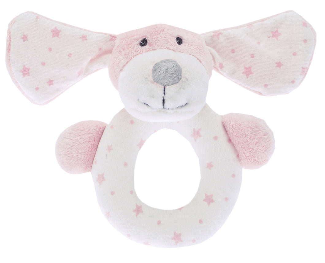 Waltons Pink Puppy Rattle