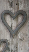 Load image into Gallery viewer, Large Grey Wooden Heart