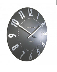 "Thomas Kent 20"" Graphite Silver Wall Clock"