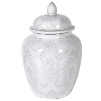 Olivia Grey & White Ginger Jar