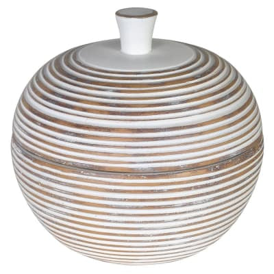 Ava Ribbed Jar with Lid