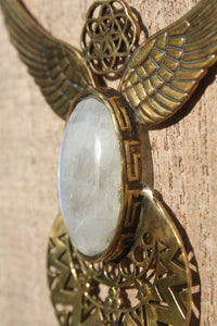 MOONSTONE WINGS NECKLACE