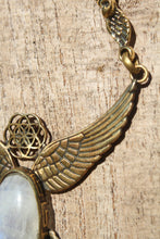 Load image into Gallery viewer, MOONSTONE WINGS NECKLACE