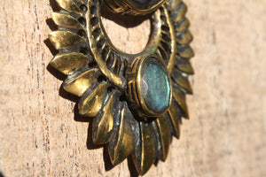 LABRADORITE WING NECKLACE