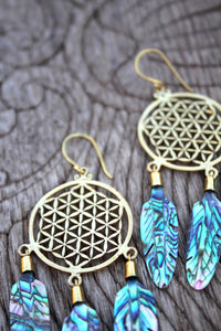 ABALONE DREAMCATCHER EARRINGS