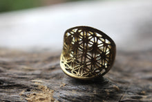 Load image into Gallery viewer, UNISEX FLOWER OF LIFE RING