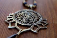 Load image into Gallery viewer, LOTUS SRI YANTRA NECKLACE