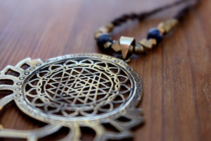 LOTUS SRI YANTRA NECKLACE