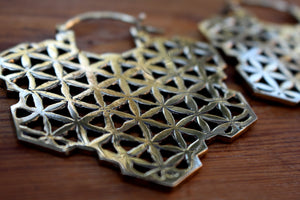 BIG FLOWER OF LIFE EARRINGS