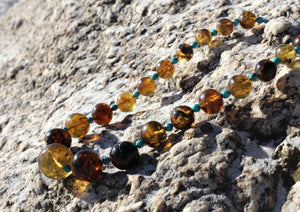 MEXICAN AMBER NECKLACE