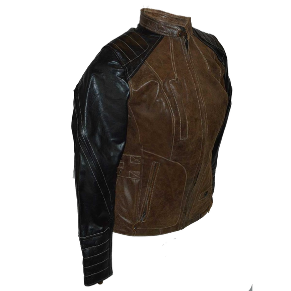 HML639 Ladies High Mileage Black and Brown Jacket