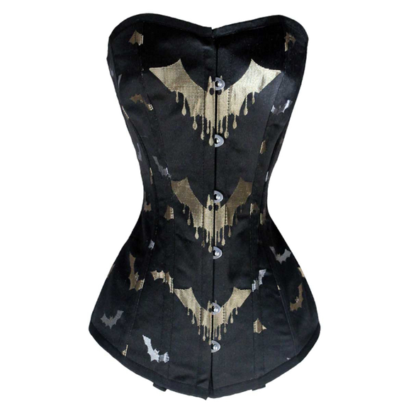 VC1402 Ladies brocade Corset with Bats