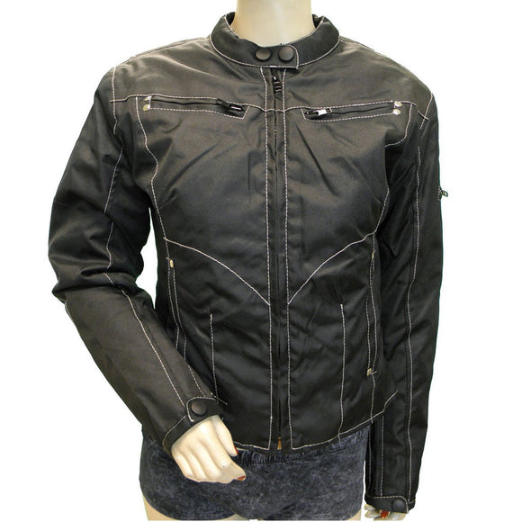 Vance Leather VL1516 Ladies Textile Motorcycle  Jacket with Zippered Vents