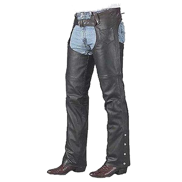VL801 Vance Leather Top Grain Unisex Leather Chaps