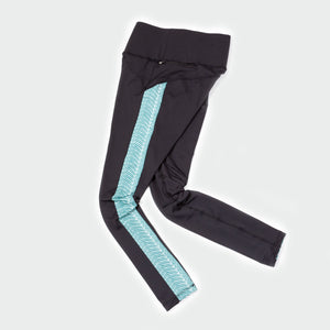 Lucky legging black aqua waves