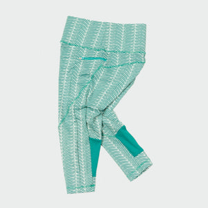 Happy 3/4 legging aqua waves