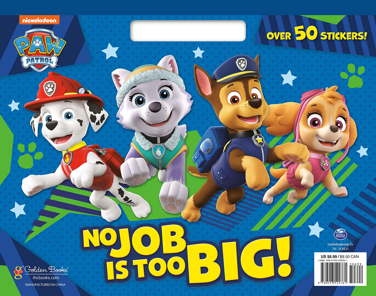 No Job Is Too Big! Paw Patrol Coloring Pad - Park Street ...
