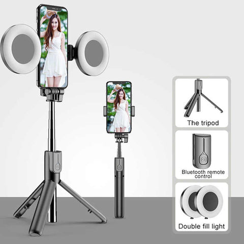 Selfie Stick With LED ring light - Superiors Store