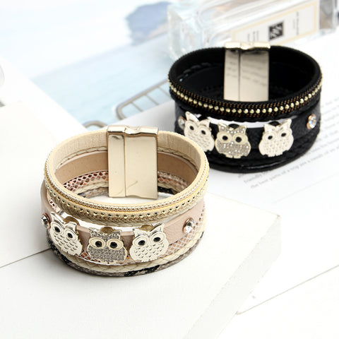 Owl Style Leather Bracelet - Superiors Store