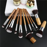RUIMIO 12 PECS Makeup Brush Set - Bamboo Handle - Superiors Store