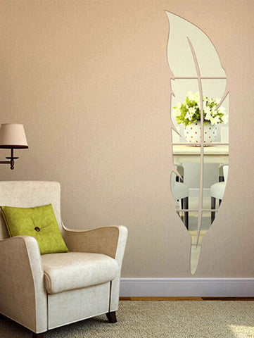 Wall Mirror Sticker - Feather Shape - SUPERIORS STORE