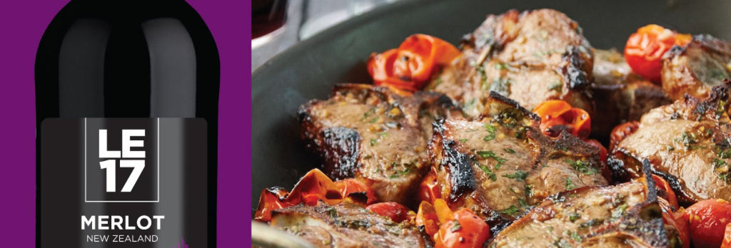Balsamic Lamb With Burst Tomatoes