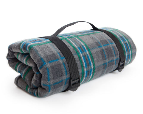 Waterproof Rug Roll Fleece with webbing