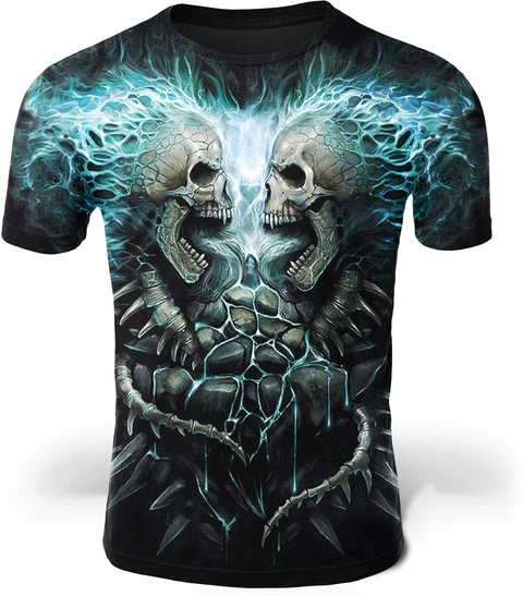 camiseta decorada calaveras