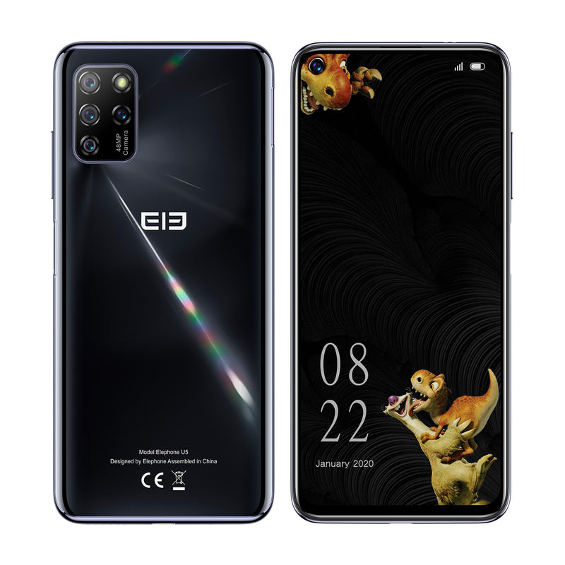 New ELEPHONE U5 4GB 128GB Smartphone 48MP Quad Rear Cameras 6.4'' FHD+ Screen Helio P60 Octa Core 4000mAh Android 10.0 NFC